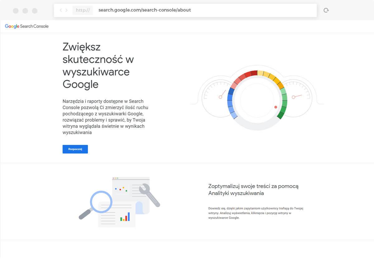 Google Search Console, analityka wyszukiwania, optymalizacja strony